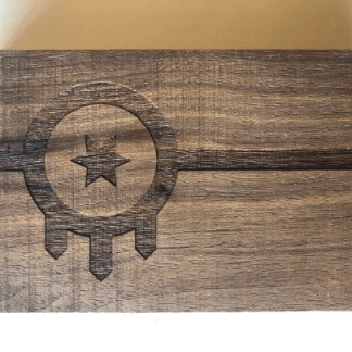 Tulsa flag wood sign