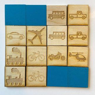 Memory game basic vehicles
