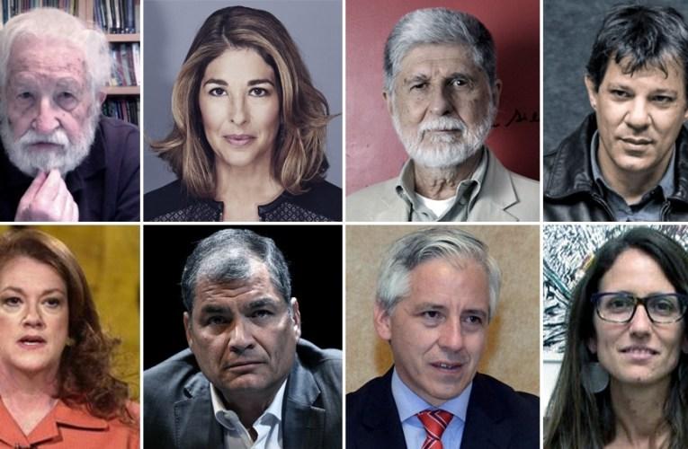 """Internacional Progresista: Hay que """"desmantelar este régimen de #GuerraJurídica"""" Para el expresidente Correa se trata de un """"golpe de Estado""""."""
