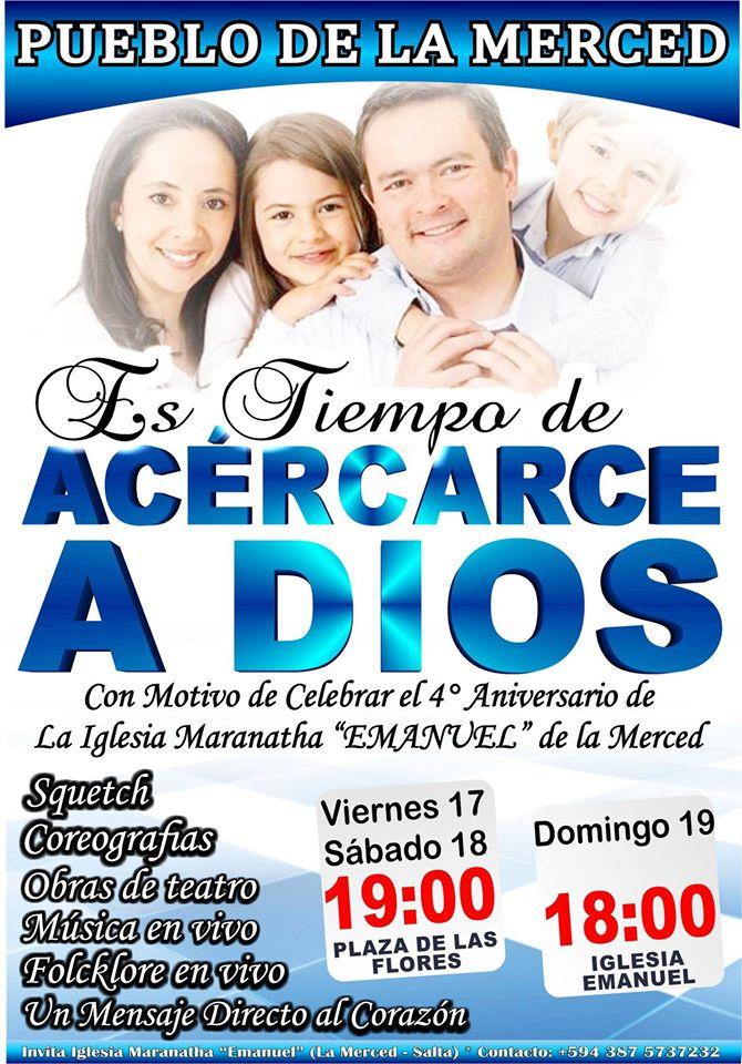 Nuevo aniversario de la Iglesia Maranatha Emanuel de La Merced