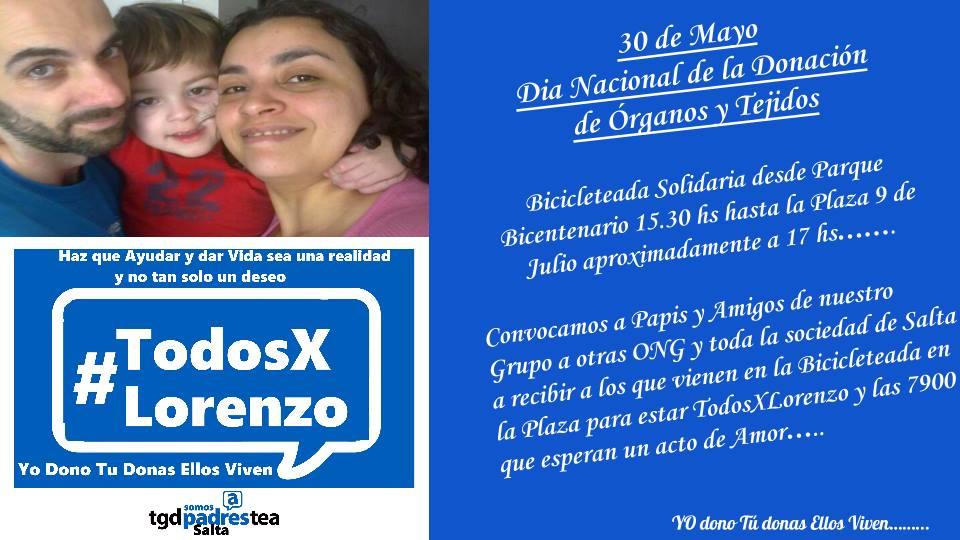 Bicicleteada solidaria #TodosXLorenzo