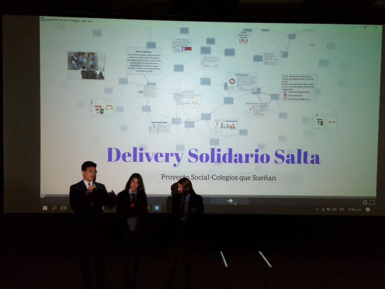 Jóvenes del Colegio Belgrano crearon el Primer Delivery Solidario de Salta