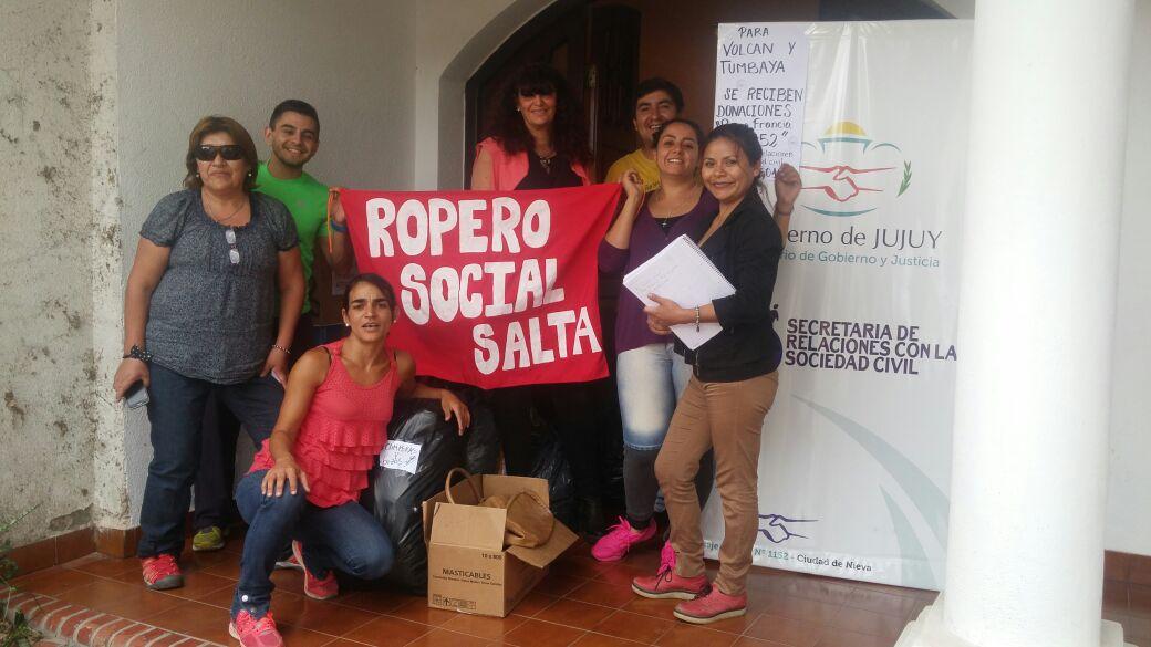 Voluntarios del Ropero Social Salta realizan la campaña solidaria #TodosPorJujuy