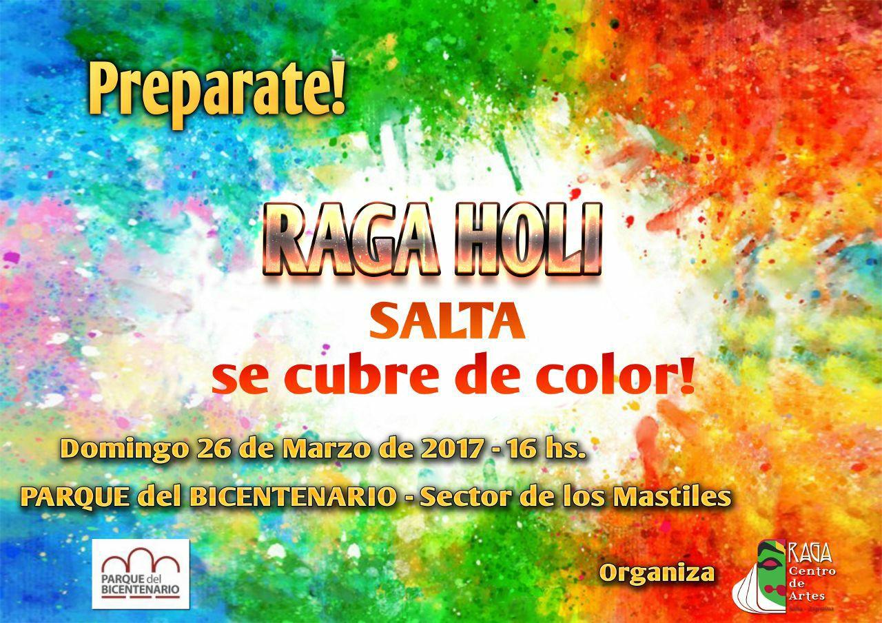 El Festival de Colores HOLI en el Parque del Bicentenario