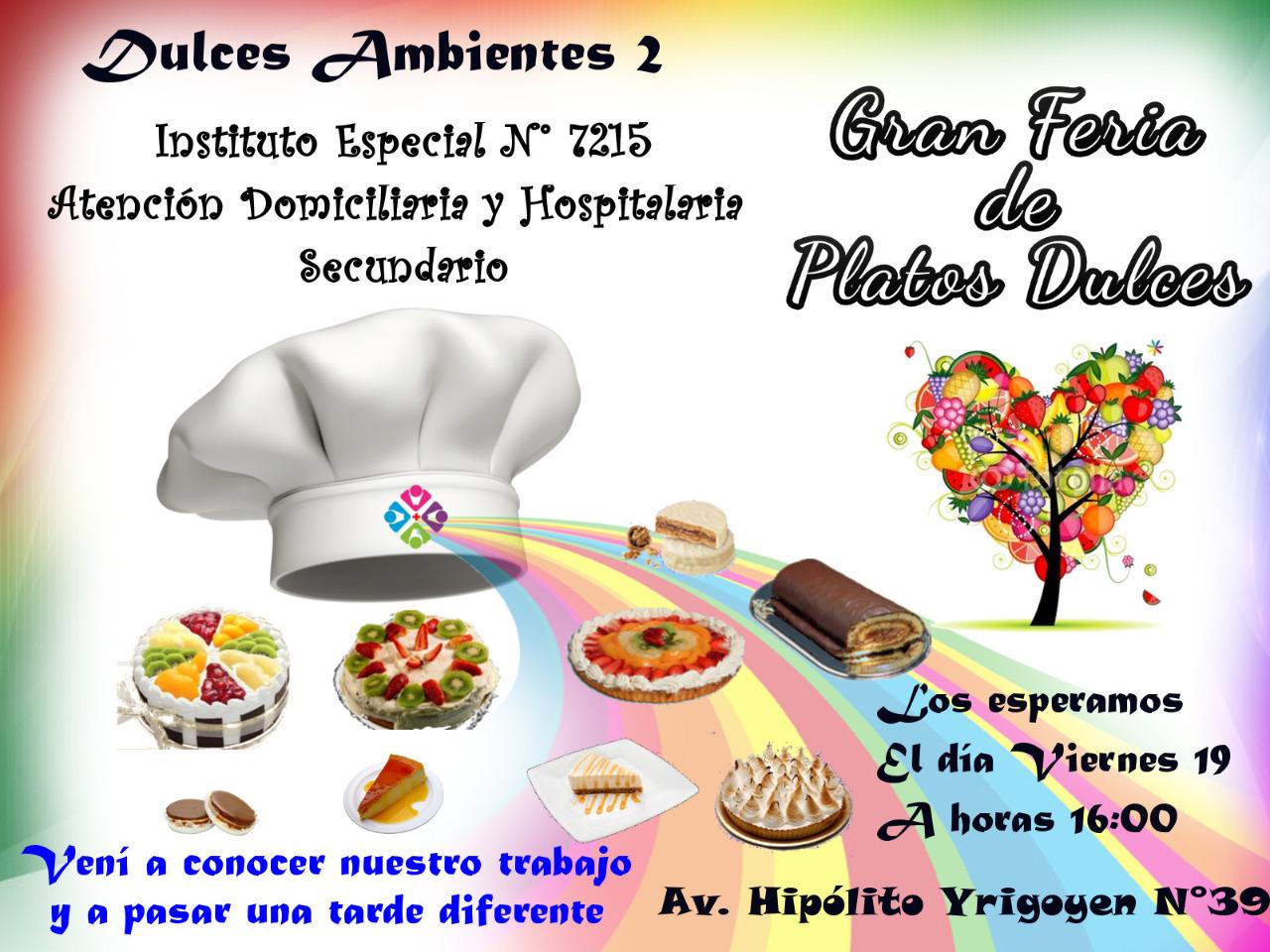 Gran Feria de Platos Dulces organizada por la Escuela Domiciliaria y Hospitalaria de Salta