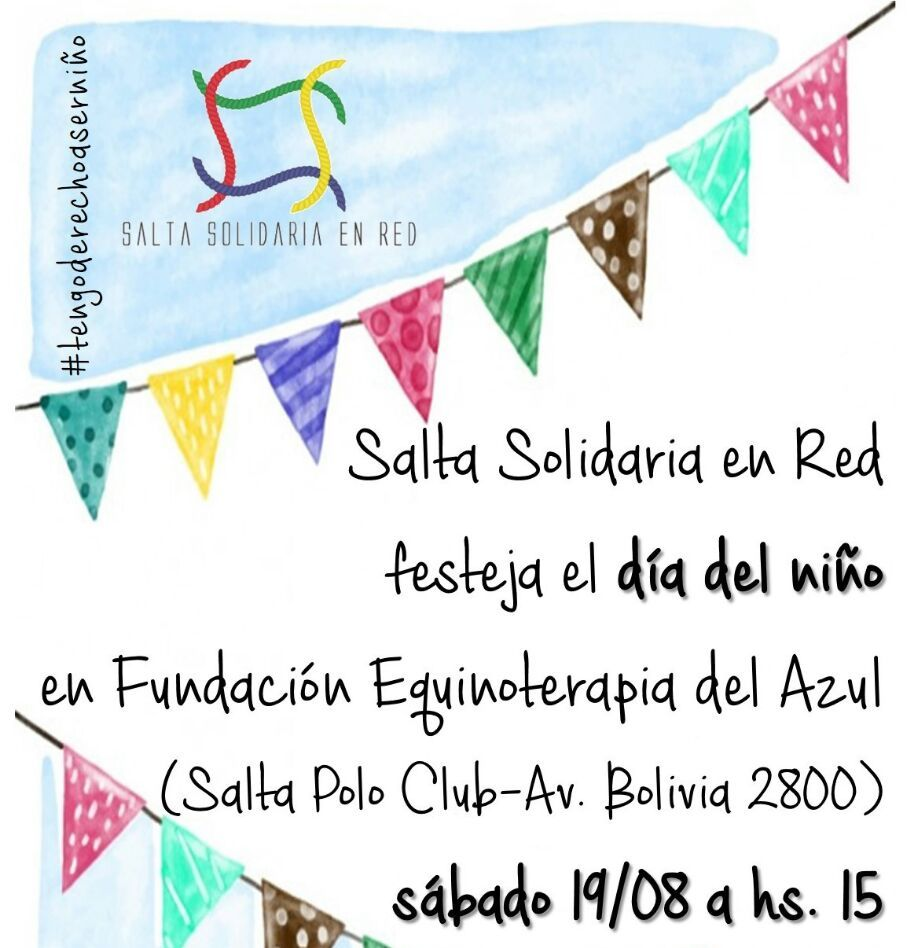 Organizaciones sociales de Salta celebran la 4º edición de la campaña #TengoDerechoAserNiño