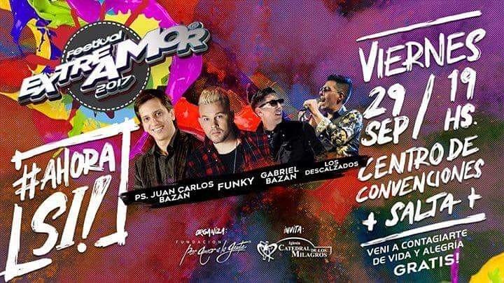 Este viernes se desarrollará el festival Festival Extremo Amor 2017