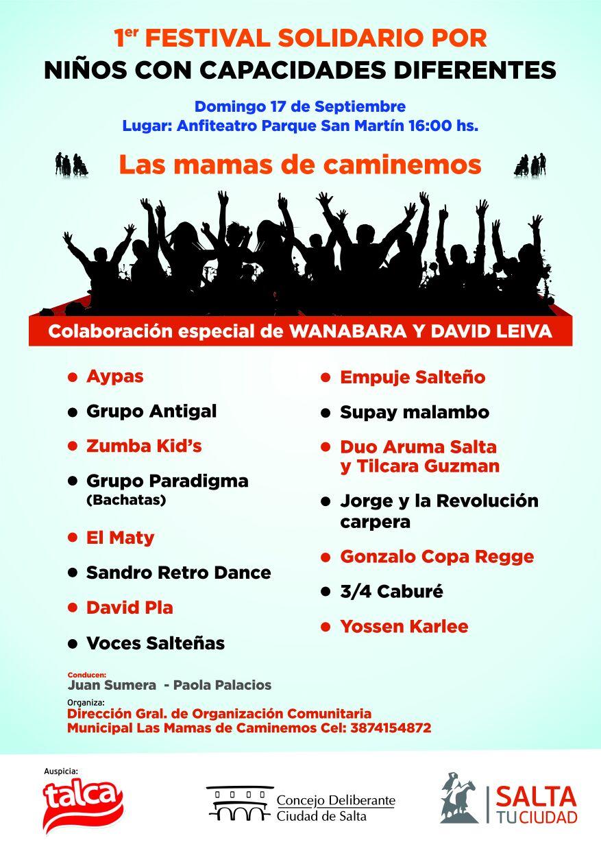 Fundación Caminemos realiza el Primer Festival Solidario  para ayudar a los chicos con parálisis cerebral