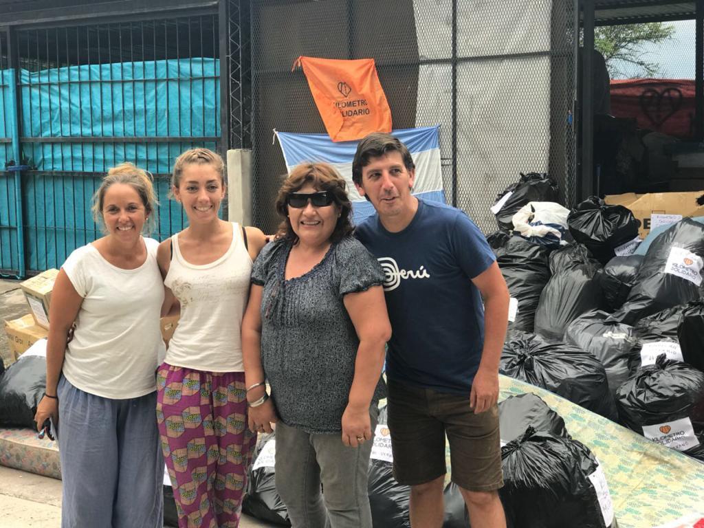El Kilometro Solidario cumplió con la misión y el primer camión partió hacia Tartagal