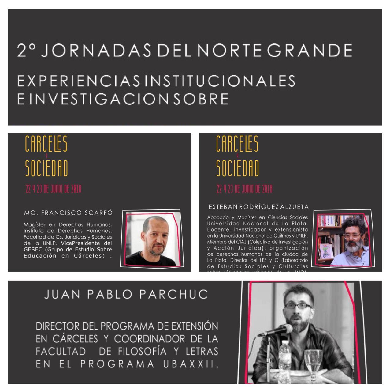 Se viene la 2º jornada sobre experiencias institucionales e investigación sobre cárceles y sociedad