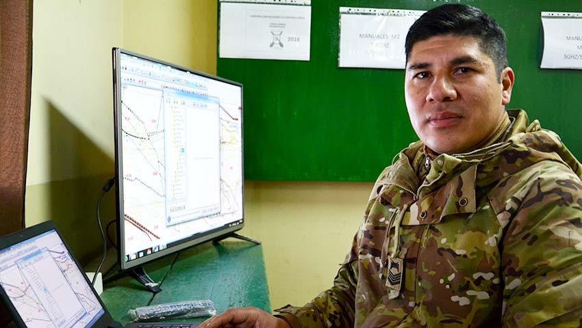 Cristihan Ernesto Salvatierra es de Rosario de la Frontera y lleva 17 años en la Armada Argentina