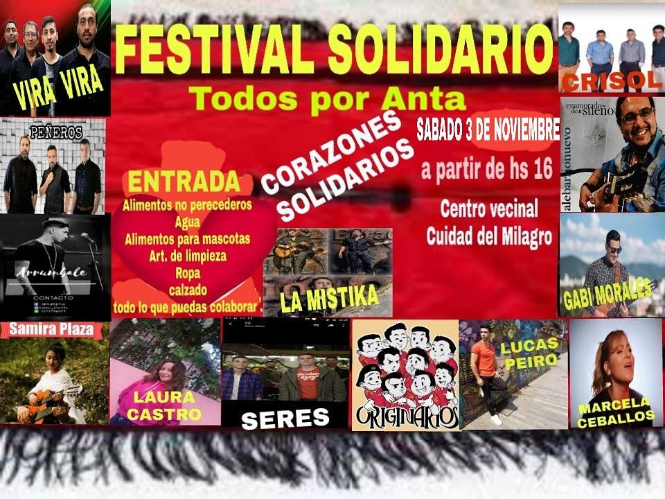 El Centro Vecinal de Ciudad del Milagro organiza un festival solidario por Anta