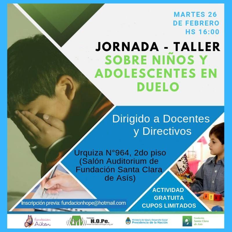 Jornada gratuita para docentes sobre niños y adolescentes en duelo