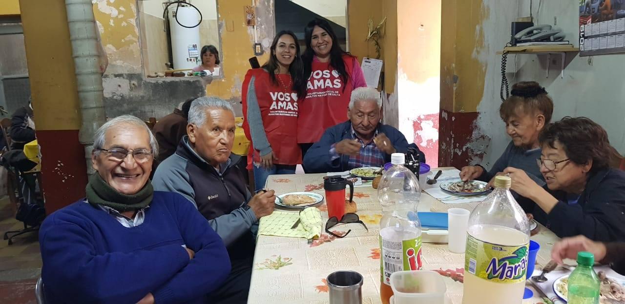 Voluntarios visitaron el comedor del barrio Hernando de Lerma