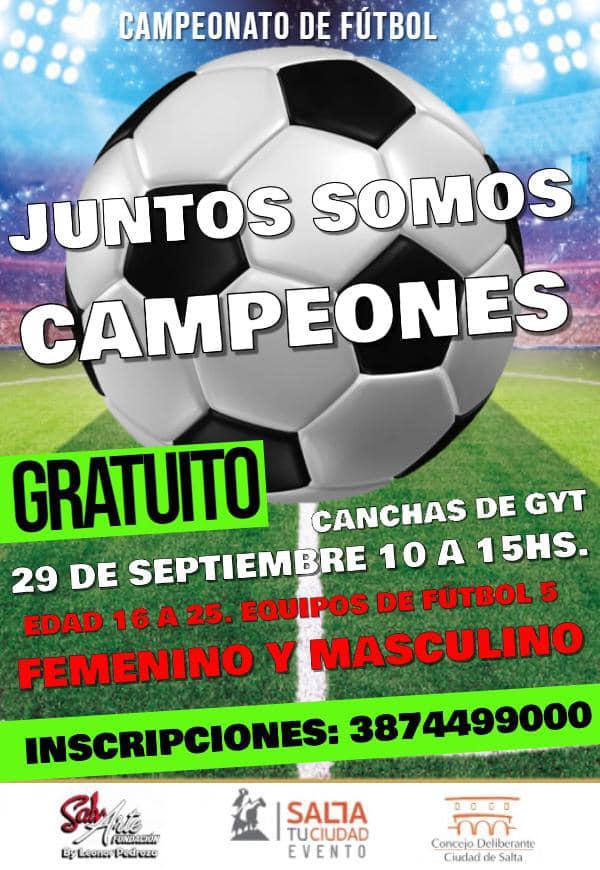 """Campeonato de fútbol """"Juntos Somos Campeones"""""""
