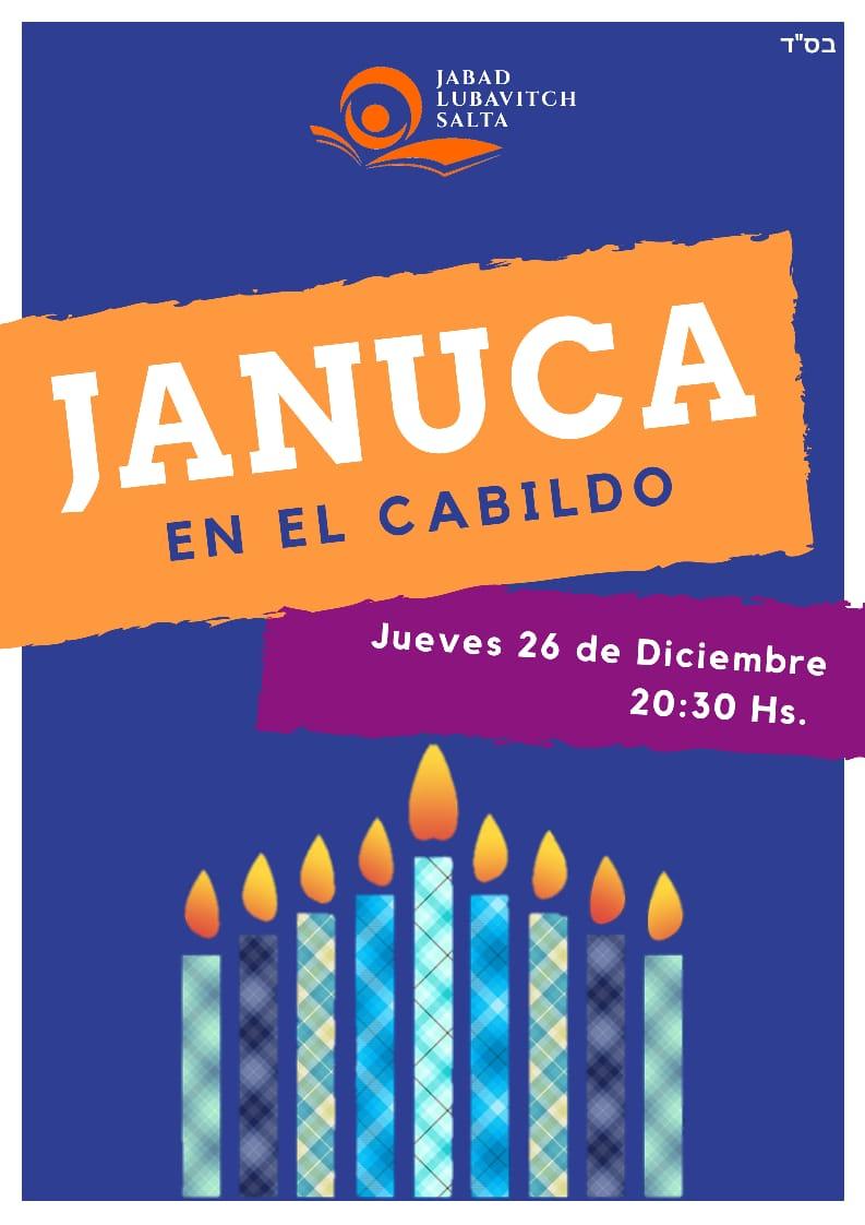 Celebración central de Januca en la explanada del Cabildo