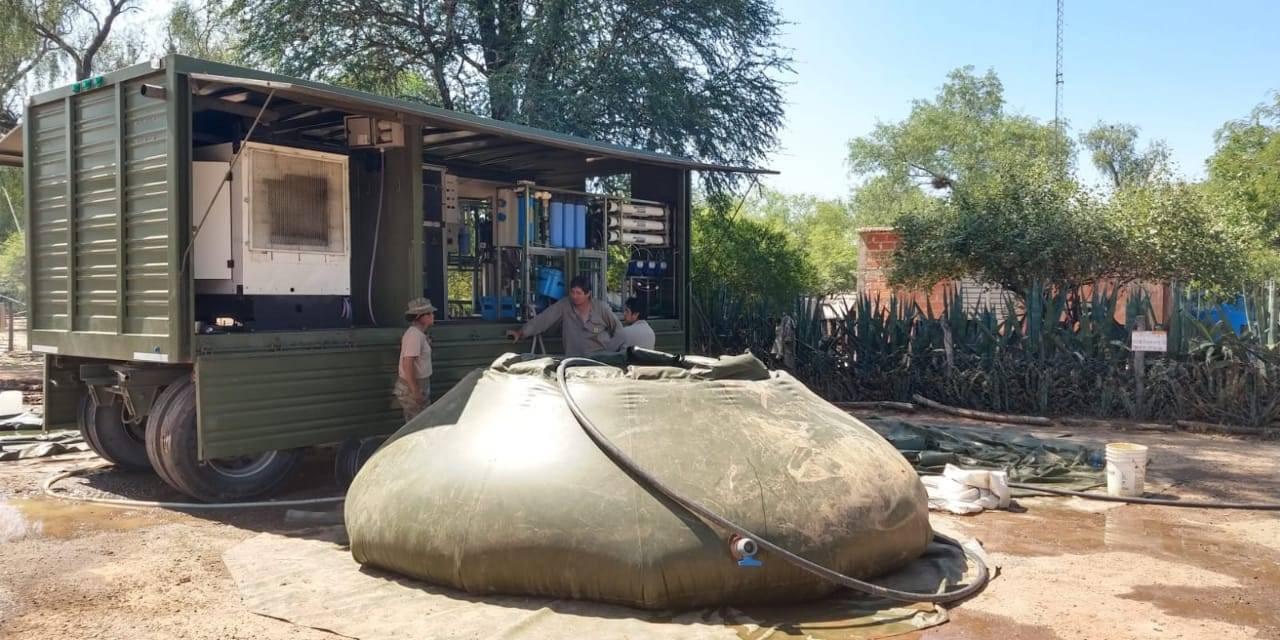 El Ejercito Argentino abastece de agua a las comunidades de Santa Victoria Este