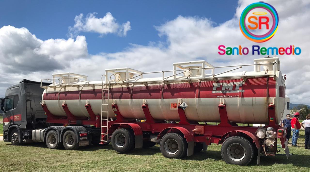 La empresa FMF Salta donó 30 mil litros de lavandina a 15 cuarteles de bomberos voluntarios