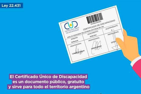 El Certificado Único de Discapacidad tendrá vigencia hasta 90 días después de su vencimiento