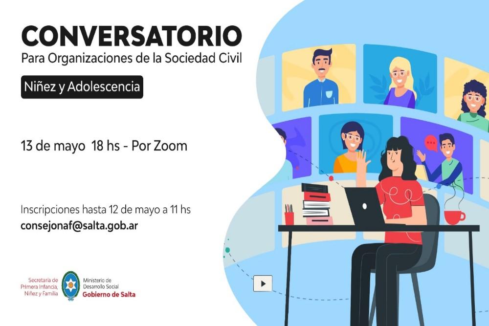 El Consejo Provincial de Niñez coordinará un conversatorio online con asociaciones civiles