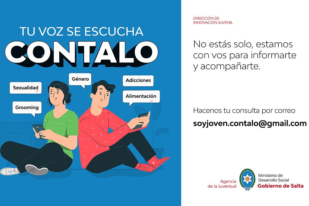 """Juventud lanzó """"Contalo"""", un espacio de interacción sobre temas que preocupan a los jóvenes"""
