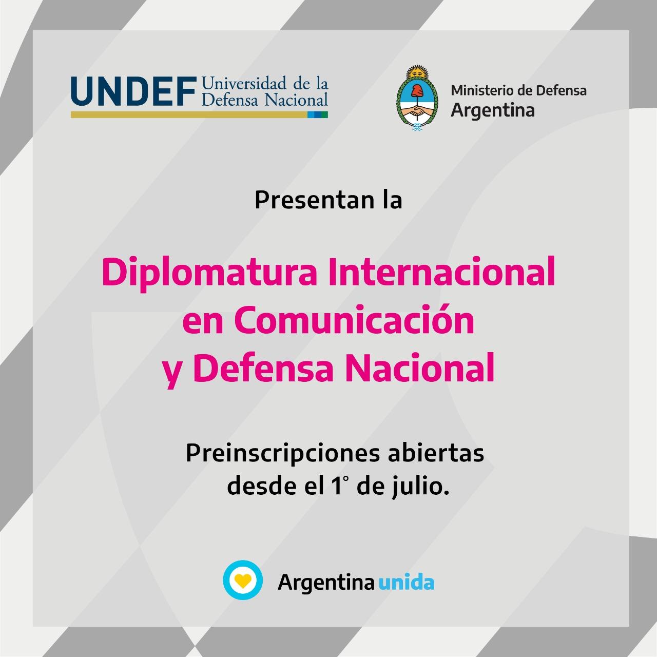 """El Ministerio de Defensa presenta la """"Diplomatura Internacional en Comunicación y Defensa Nacional"""""""