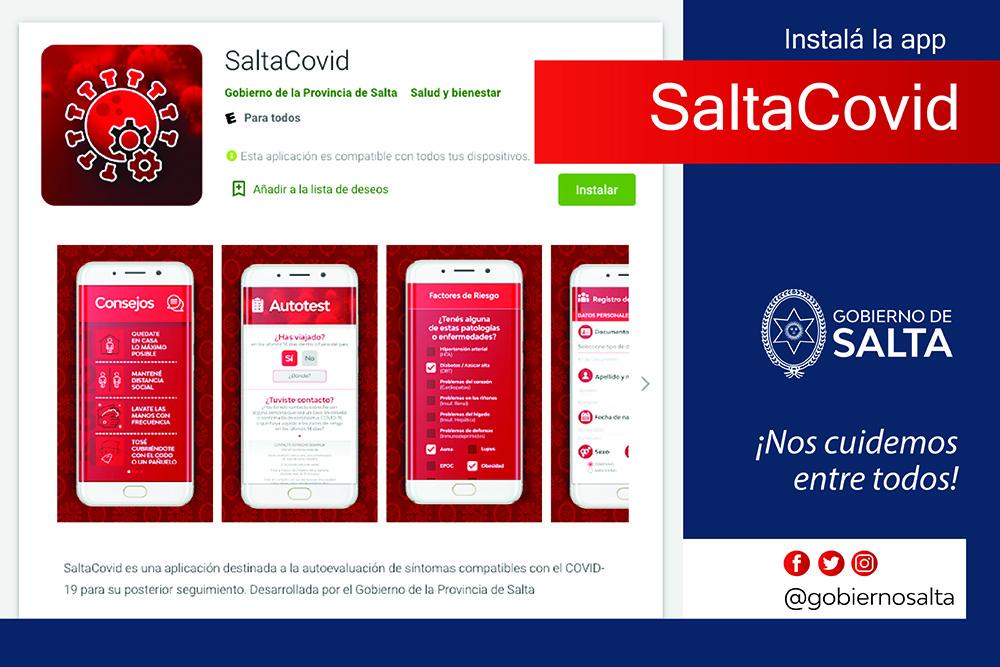 Se encuentra disponible la aplicación Salta Covid-19