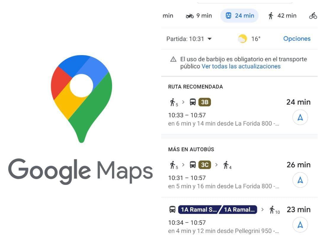 Usuarios de SAETA acceden a recorridos y horarios de líneas a través de Google Maps