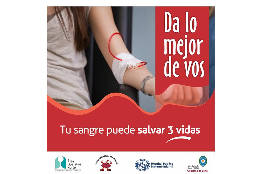 El hospital Materno Infantil abrió un registro de donantes de sangre