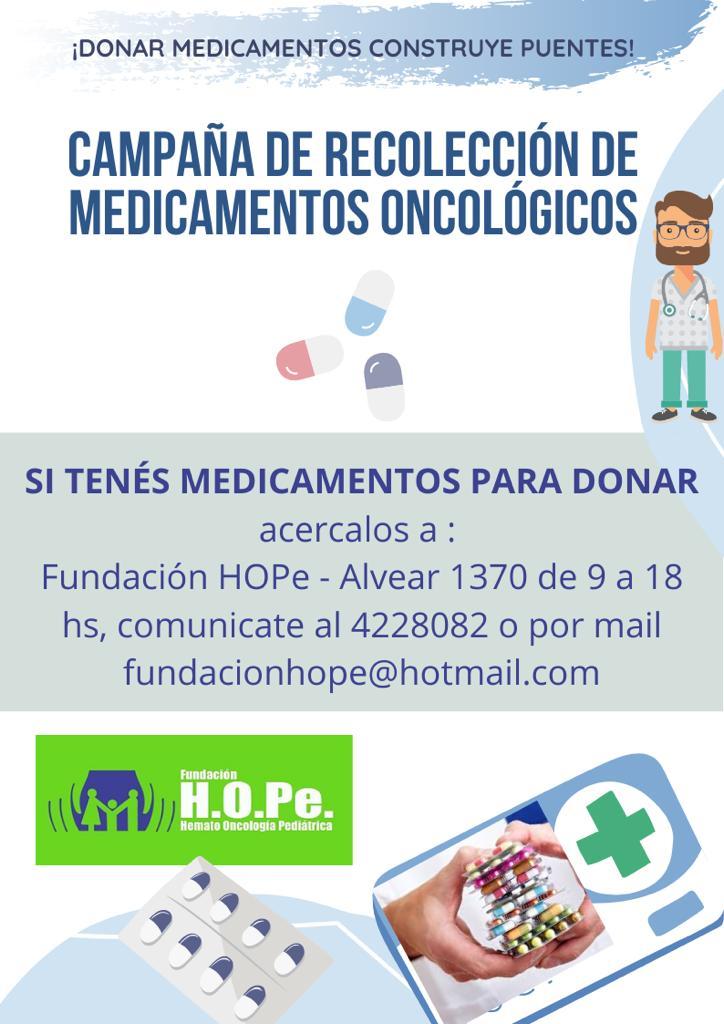 HOPe inició la campaña de recolección de medicamentos oncológicos