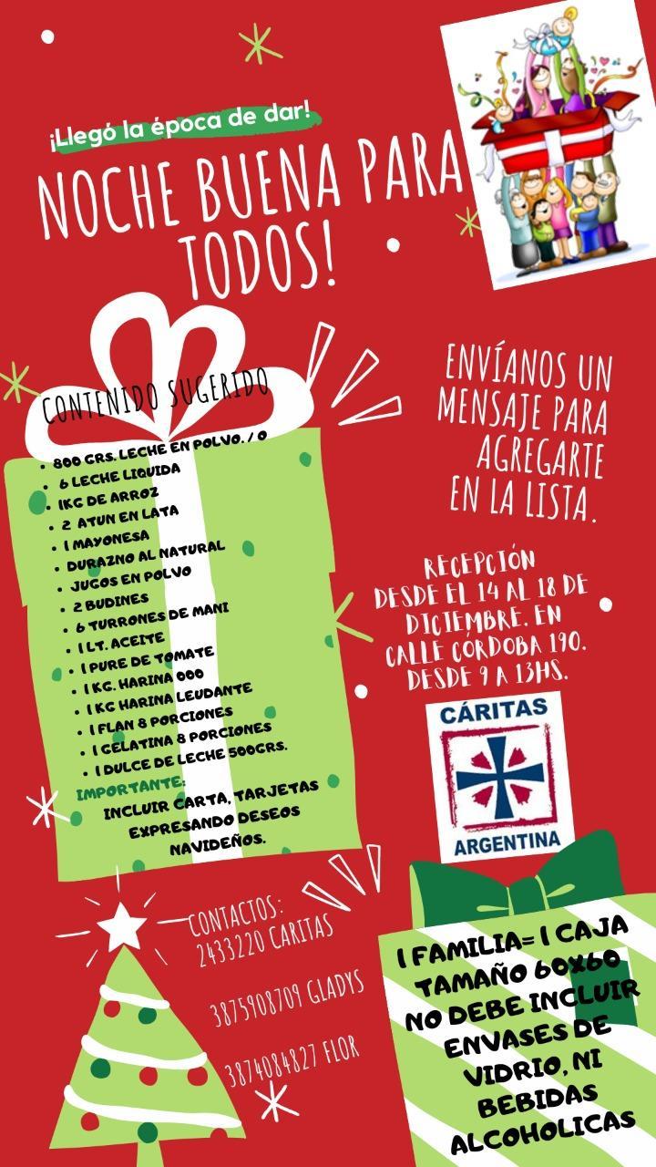 Cáritas Arquidiocesana Salta te invita a vivir una Navidad Solidaria