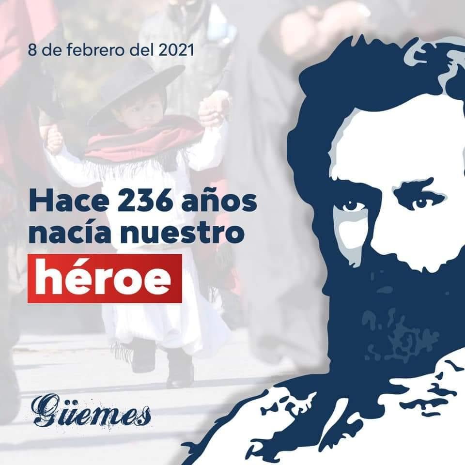 236 Años del Natalicio del Güemes héroe nacional