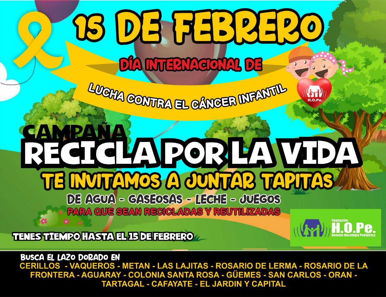Recicla por la Vida, la campaña provincial para ayudar a los niños con cáncer