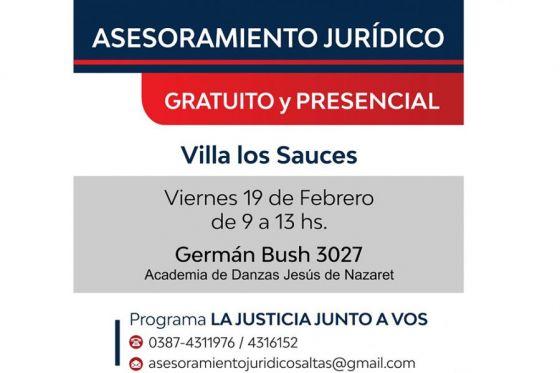 Vecinos de villa Los Sauces recibirán asesoramiento jurídico gratuito