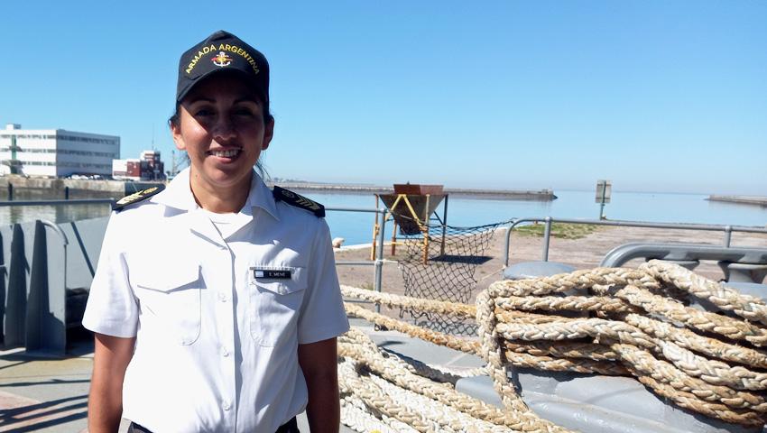 Una salteña es Cabo Principal de Mar de la Armada Argentina