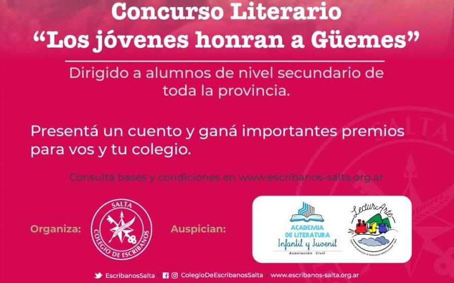 """Concurso literario """"Los jóvenes honran a Güemes"""""""
