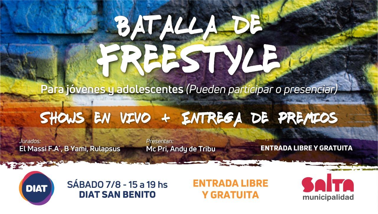 Se viene la Batalla de Freestyle en el DIAT de San Benito