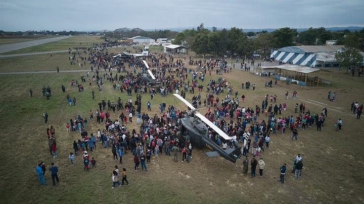 El Ejército Argentino realizó una jornada guiada y abierta en el Aeroclub de Orán