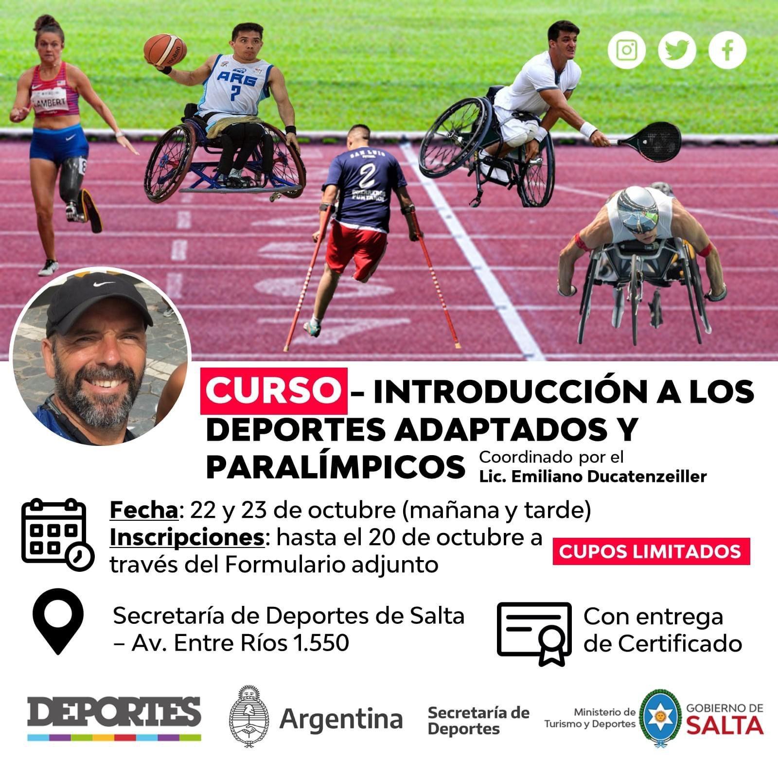 CURSO: Introducción a los Deportes Adaptados y Paralímpicos