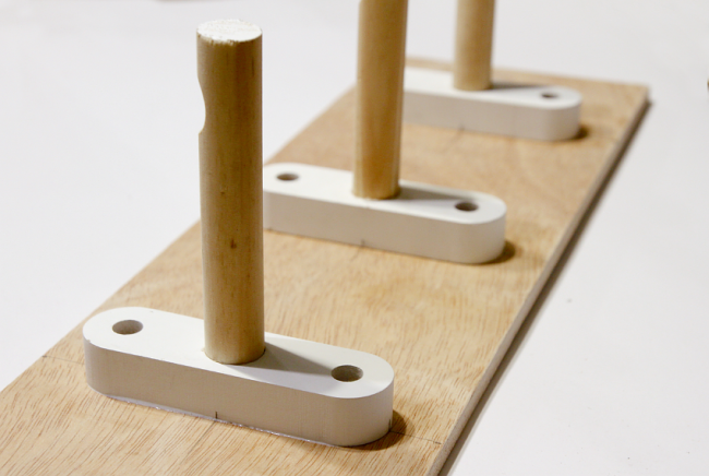 DIY Wooden Peg Coat Rack - Progress | Saltbush Avenue