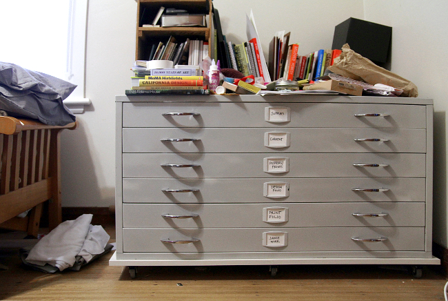 Flat file drawers