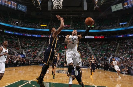 Trey Burke generates some early offense for the Jazz on Wednesday. But overall, how are the Jazz doing at pushing the tempo?