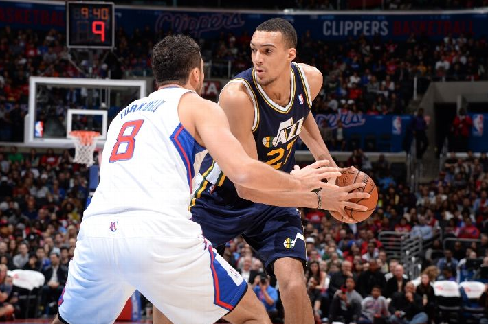Could Rudy Gobert really be about to lap Enes Kanter, as SCH's founder predicted? (Photo by Andrew D. Bernstein/NBAE via Getty Images)