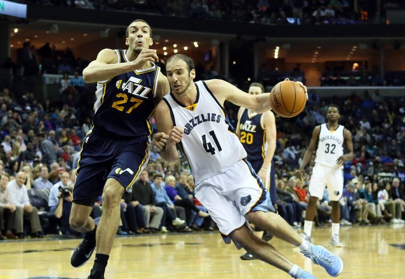 Former Jazzman Kosta Koufos might be a good fit behind Rudy Gobert. (Nelson Chenault-USA TODAY Sports)