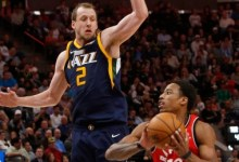 Jazz Never Slow Raptor Offense in 100 – 109 Home Loss