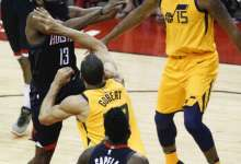 Jazz Measure Far Short of Rockets in 96 – 110 Game 1 Loss