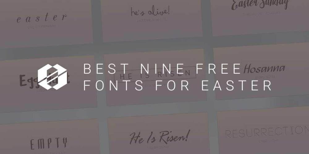 Best free fonts for easter - header graphic