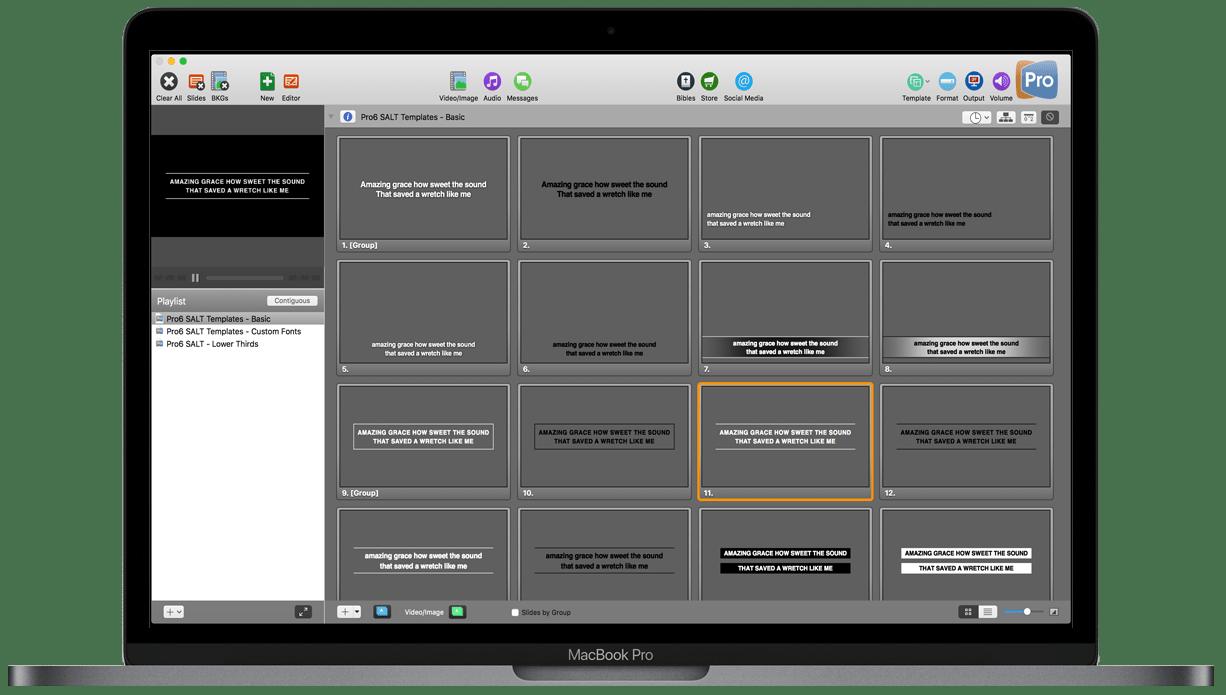 Mac & PC Free ProPresenter Templates
