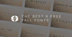 Best 9 Free Fall Fonts 2017