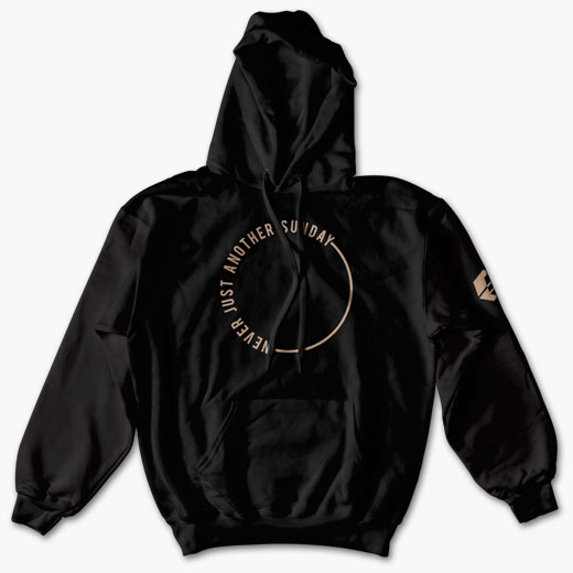 Circle Hoodie - Never Just another Sunday